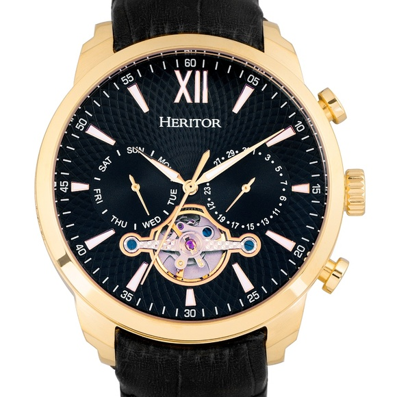 52624e72c Heritor Automatic Accessories   Nwt All Black Automatic Watch   Poshmark